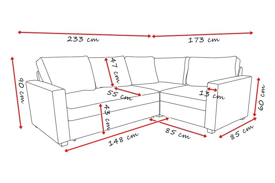 Divani angolari misure idee per il design della casa for Divano letto misure ridotte